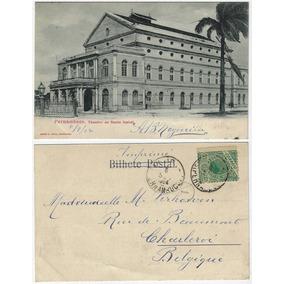 Pe 1904 Cartão Postal Foto Teatro De Santa Izabel Em Recife