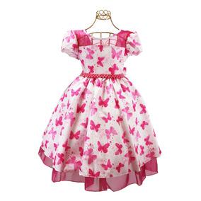 Vestido Infantil Floral Casamento Formatura Moda Evangélica