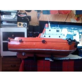 Remato!barco, Buque, Remolcador Artesanía Madera Grande 20