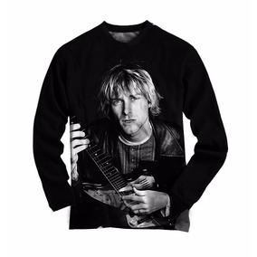 Camiseta Do Kurt Cobain Manga Longa - Camisetas e Blusas no Mercado ... b3173602628