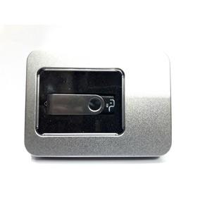 10 Porta Case Box Caixa Para Pendrive Alumínio Médio