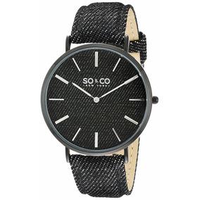 So co New York - Reloj Unisex 5103.4 Soho Quartz Black Denim 16de65986559