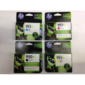 Combo Cartucho Hp 950xl Hp951xl Originales Traidos De Usa