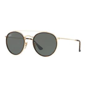 7860cba32c3 Oculos Sol Ray Ban Rb3647n 001 51 Dourado Lente Verde G15