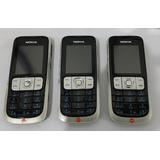 3 Celulares Nokia 2630 Cam Radio Fm Bluetooth Desbloqueado