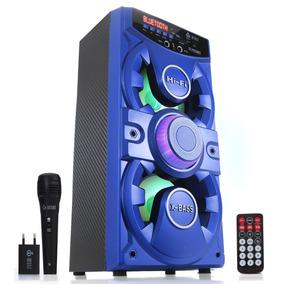 Caixa De Som Bluetooth Amplificada Portátil 12w Karaokê Fm