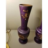 Bonitos Floreros De La India Labrados Hermoso Color Violeta