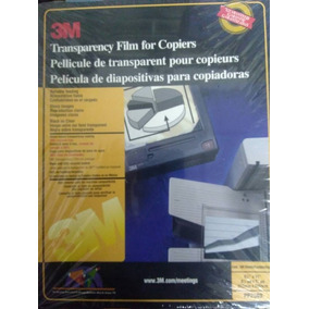 Lamina Acetato Transparencia Para Fotocopiadoras 3m