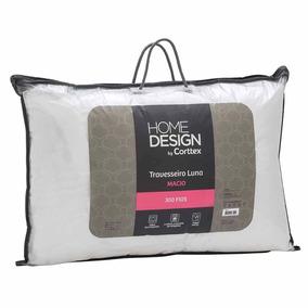 Travesseiro Luna Home Design Macio 70.00cm X 50.00cm Taupe