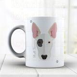 Caneca Cachorro Bull Terrier- Em Porcelana Cód: 898la