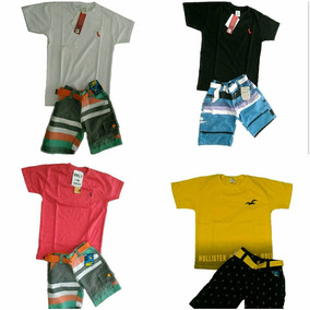 Kit Com 12 Conjunto Infantil Menino Masculino De 3 Meses A 5 61b1242c5bc8b