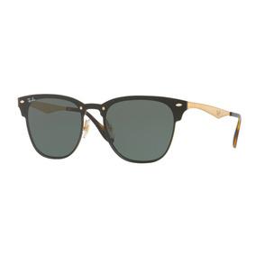 Lentes Ray Ban Originales Blaze Clubmaster Oro Verde Rb3576n