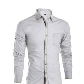 Camisa Moda Asiatica Caballero Corte Slim Fit Todas Tallas