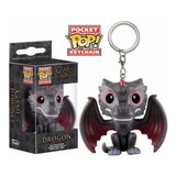 Pocket Pop Drogon Game Of Thrones Dragon Funko Keychain