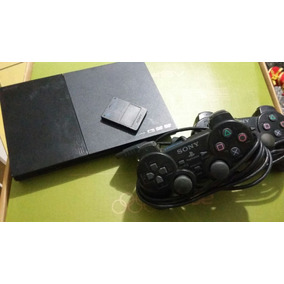 Play 2 Com 2 Controles, Cartão De Memoria, Seminovo.