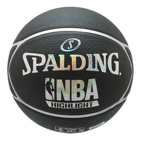 Balón De Basquetbol Spalding Highlight Negro Silver Pro a4bfbcfb508ac