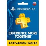 Playstation Plus 14 Días Psn Ps4 Ps3