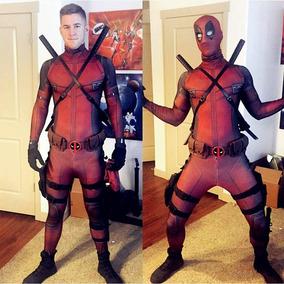 Disfraz Deadpool Cosplay Lycra Niño Y Adulto   Sin Accs. b1ab93359b42