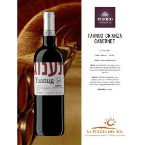 Vino Tinto Kosher Taanug Cabernet/merlot Botella De 750 Ml