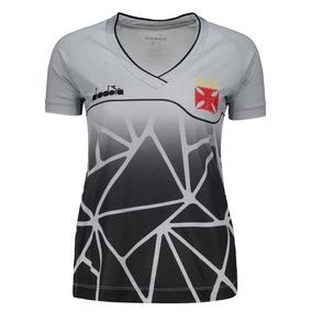 7e53fa2b2 Camisa Diadora Vasco Treino 2018 Ct Feminina
