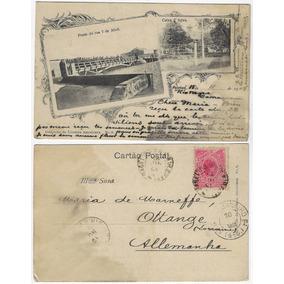 Rs 1904 Cartão Postal Ponte Rua 7 Abril Caixa D´água Pelotas