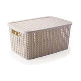 Caja Apilable Rattan 14 Litros
