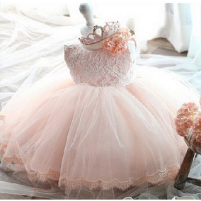 Vestidos Bautizo Para Bebé Niña Rosado - Pajecita Tutus