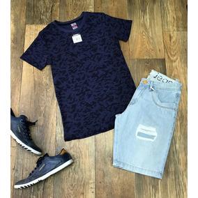 Camisa Masculina Estampa Camuflada Camiseta Manga Curta c224d868bf9