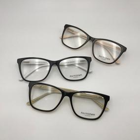 d88a081e450a3 Armação Óculos Grau Feminino Gatinho Quadrado Acetato 6257 P