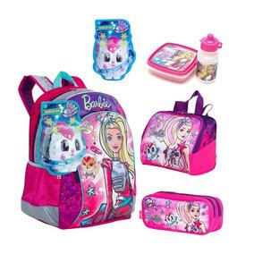 Kit Mochilete Barbie Aventura Costas Original Tam G + Brinde