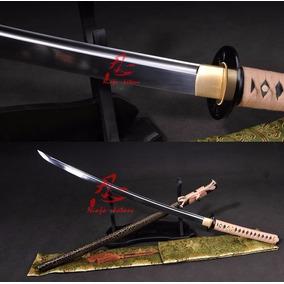 Espada Samurai Katana Com Corte Afiada Aço Carbono 9260