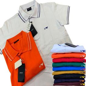 Kit 2 Camisas Polo Armani Masculina Cores Quente Verão 2019 e9aa544f574dc