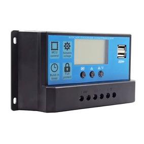 Controlador Carga Solar Pwm 12v/24v 10a Ideal P/ Iluminação