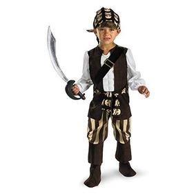 Fantasia Infantil Pirata Grande 10 - 12 Anos