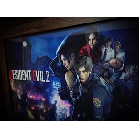 Quadro Gamer Decorativo Resident Evil 2 Remake C / Vidro
