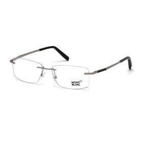 Armação Oculos De Grau Mont Blanc Mb391 Silver Sem Aro - Óculos no ... bf5506ff7a