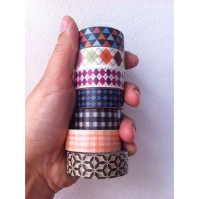 Kit 10 Washi Tape Geométricas