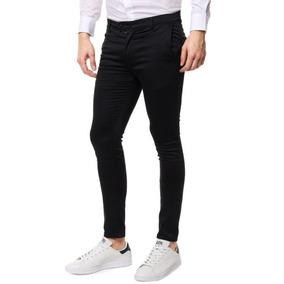 Pantalón Chupin De Gabardina Chinos Ultima Moda - Joggers 142aec4f1970