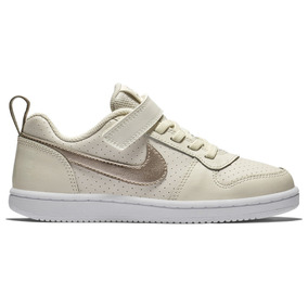 207153a309b Tenis Nike Court Borough Low Gpv Para Niña Beige 2653204