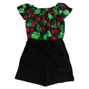 Conjunto De Blusa + Short Moda Plus Size Roupas Femininas