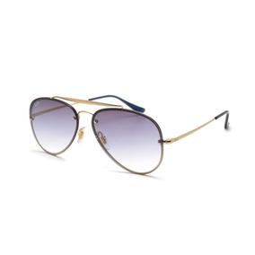 Óculos Ray Ban Rb3513 58 Aviator Flat Metal Gunmet - Óculos no ... c8e13b833c