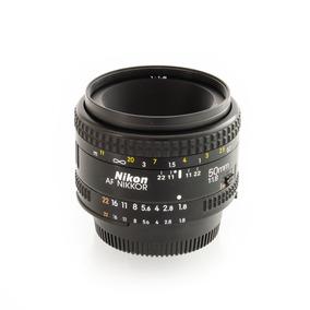 Lente Nikon Af 1:1.8 50mm (poco Uso)