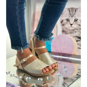 Sandalias Niña Escarchadas Calzado Colombiano Moda 2019