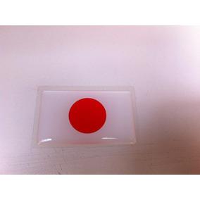 Adesivo Resinado Da Bandeira Do Japão 5 Cm Por 3 Cm