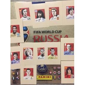 Set 12 Figurinhas Legends Gold Edition Copa 2018 Panini