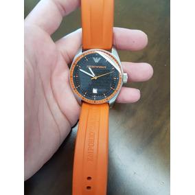 9d1410ba93e Relógio Armani Ar 0652 Simplesmente Maravilhoso! Laranja ...
