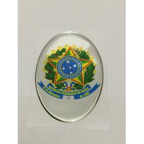Adesivo Resinado Do Brasão De Armas Do Brasil República 9x6