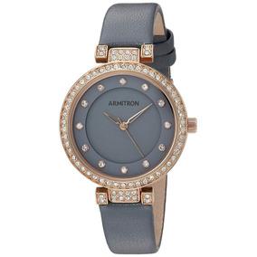 Reloj Mujer Armitron Nuevo Original Oro Rosado   Gris Oferta 2359a8415513