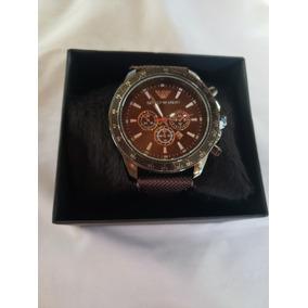 3369cbd2c64 Relogio Emporio Armani Marrom - Relógios no Mercado Livre Brasil