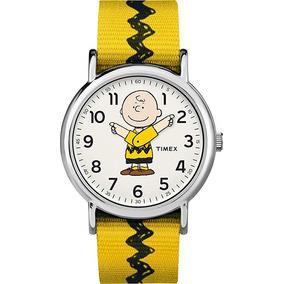 Timex- Reloj Unisex Weekende /yellow/charlie Brown /peanuts